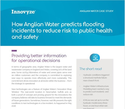 Case Study: How Anglian Water predicts flooding incidents