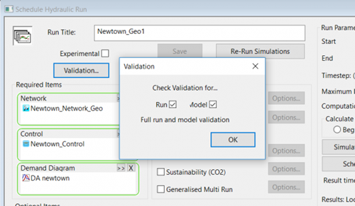 Validation button in WS Pro - screenshot